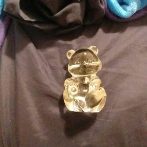 A glass bear
